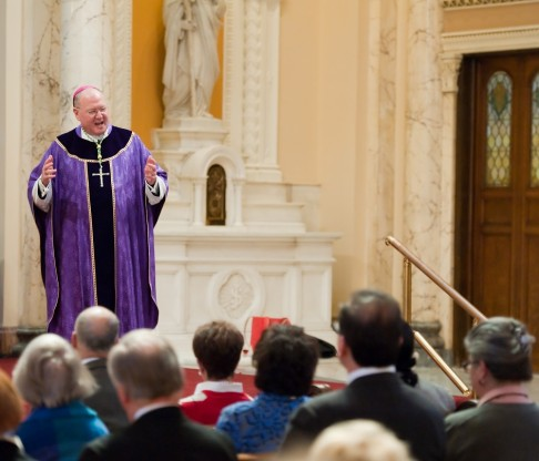 CMSV Welcomes His Eminence Timothy Cardinal Dolan and Order of Malta for Lenten Morning of Reflection on March 22, 2014