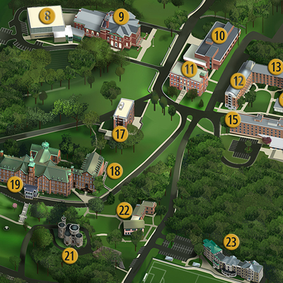 Image fragment of the College of Mount Saint Vincent campus map.