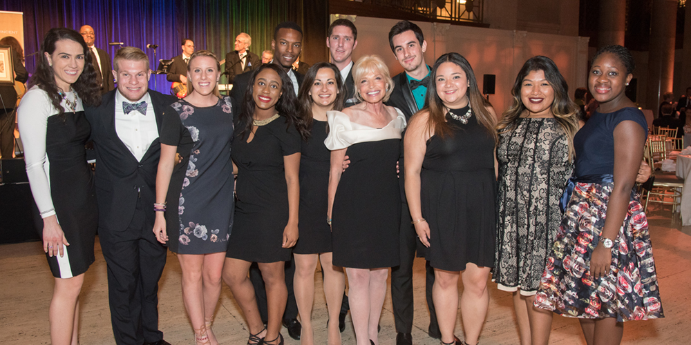 CMSV students with 2016 Scholarship Tribute Honoree Pamela J. Newman