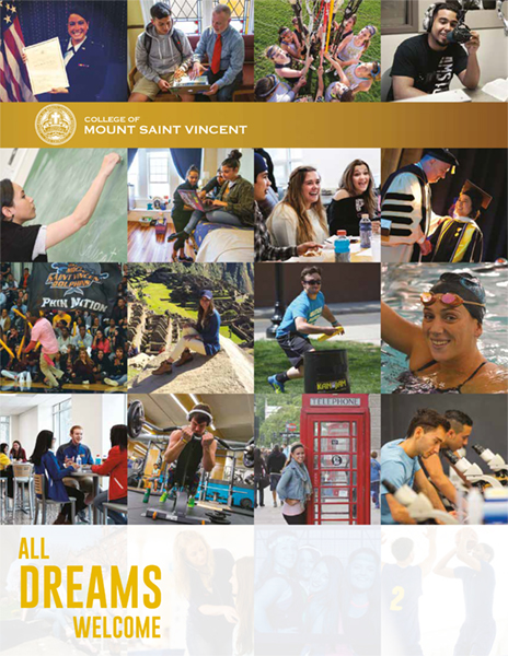 Collage of CMSV life on the cover of 2017 Viewbook
