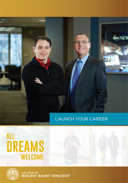Alums Adam Derouin and John Carouso on the cover of CMSV Launch Your Career 2017