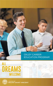 Mount student smiles on the cover of Oxley Career Education Program 2016