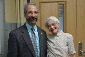 ParaMount Perspectives speaker Matthew J. Arduino '79 with Sr. Mary Edward Zipf