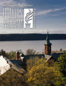 Honors Program Newsletter Spring 2016 - cover featuring Founders Hall and the Hudson River
