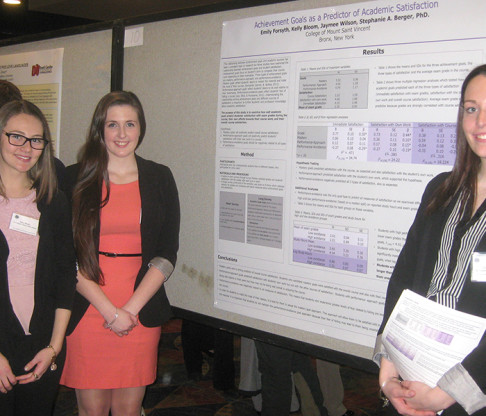 Mount Saint Vincent Students and Faculty Present Scholarly Work at Eastern Psychological Association Annual Meeting
