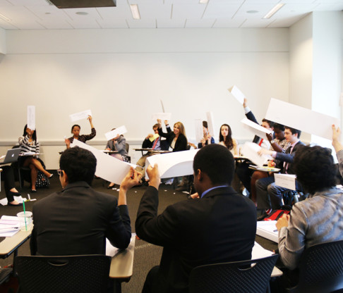 Model U.N. Team Debates at New York University Conference
