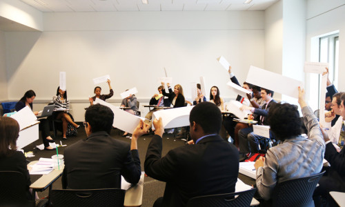 Model U.N. Team Debates at New York University Conference