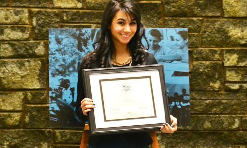 Mount Promotional Video Class Features CICU Award Winner Ciara Rosa '15