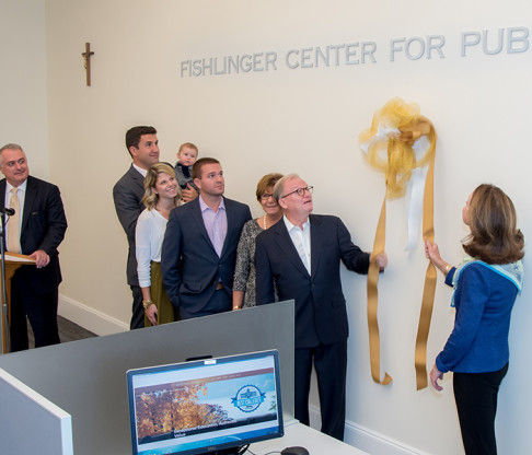 Mount Saint Vincent Hosts Dedication of Fishlinger Center for Public Policy Research