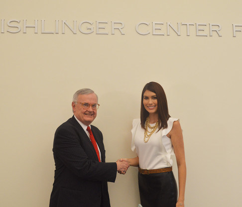 Miss Universe Visits Fishlinger Center for Public Policy Research