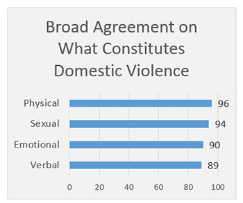 Broad Agreement on What Is Domestic Violence