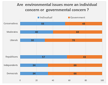 Environmental issues individual or governmental concern