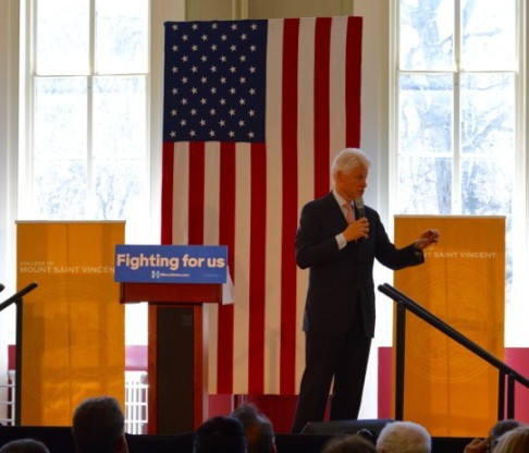 President Bill Clinton Speaks at Mount Saint Vincent