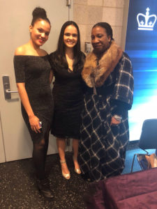 Katherine Perez '19 and Angela Abreu '19 with #MeToo Movement founder Tarana Burke.