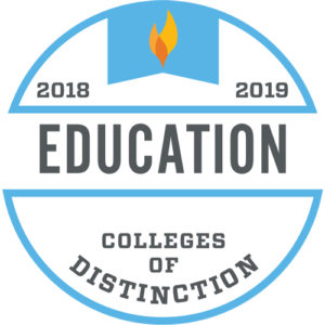 Colleges of Distinction Education 2018-2019