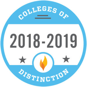 Colleges of Distinction 2018-2019.
