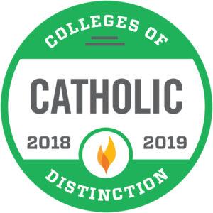 Colleges of Distinction badge - Catholic 2018-2019