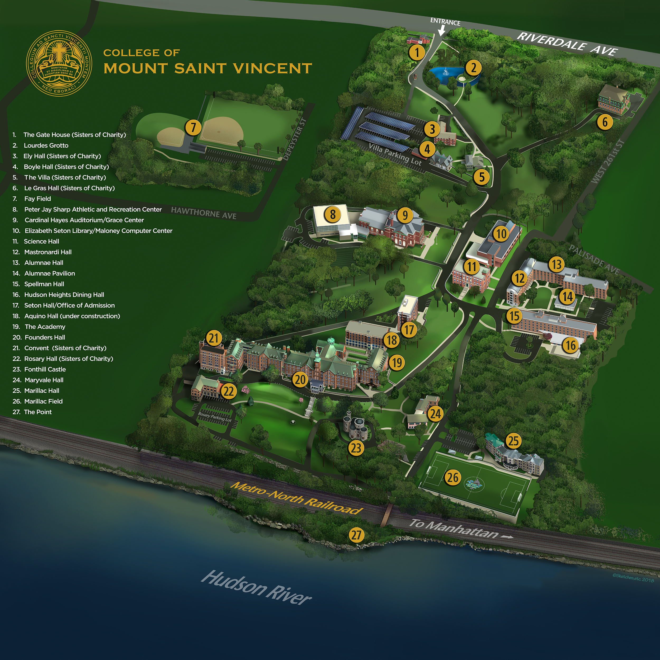 College Of New Jersey Campus Map.Map And Directions College Of Mount Saint Vincent