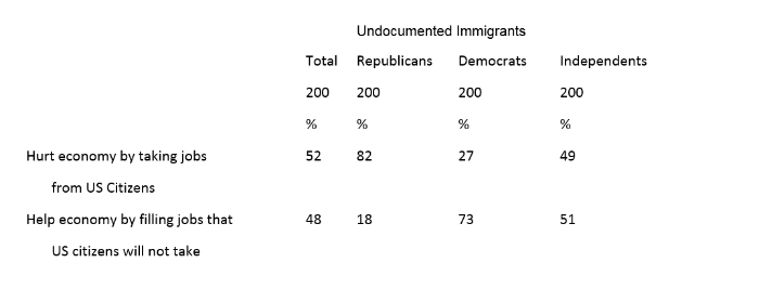 """Graphic titled: """"Undocumented Immigrants"""""""