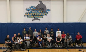 Wheelchair Sports Federation pose for a photo.