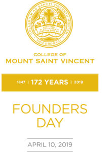 "Founders Day 2019 Program cover saying ""Founders Day"" and featuring the College seal and name."