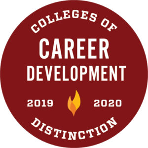 Colleges of Distinction logo Career Development 2019-2020