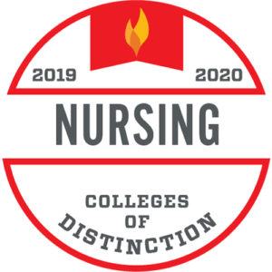 Colleges of Distinction logo Nursing 2019-2020