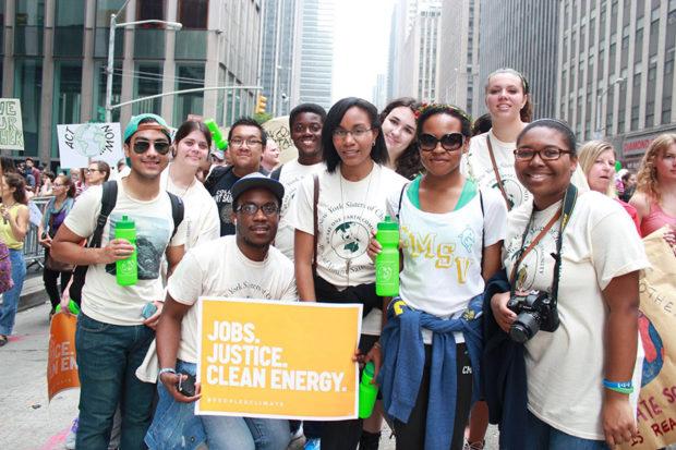 Mount Activists Lead Climate Walkout