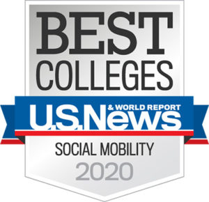 Best Colleges U.S. News Social Mobility badge 2020