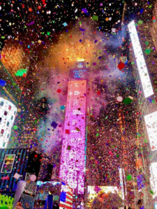 Image of Times Square on New Year's Eve
