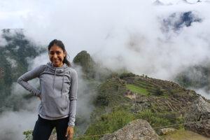 Jennifer Puac in Machu Picchu.