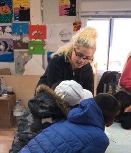 Caitlin Kessel '20 teaches a class in Greece.
