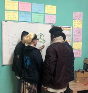 Caitlin Kessel '20 teaches students in Greece.