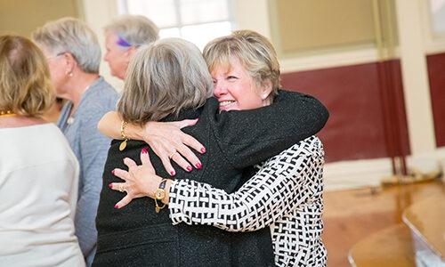 Alumnae hugging at Reunion