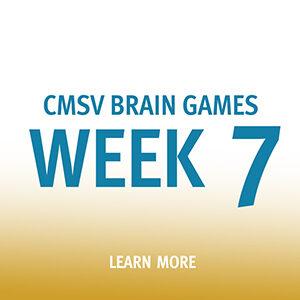 """Button saying """"Brain Games Week 7"""""""