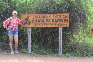 Jennifer Puac in the Galapagos