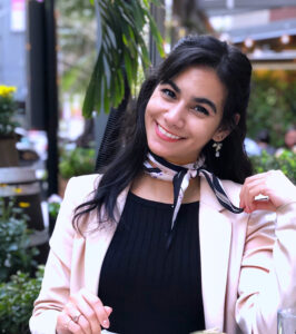 Ciara Rosa smiles wearing a cute outfit.
