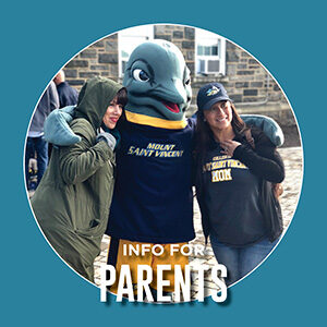 """Button saying """"Info for Parents"""""""