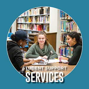 """Button saying """"Student Support Services"""""""