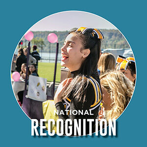 """Button saying """"National Recognition"""""""