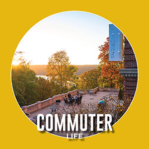"""Button saying """"Commuter Life"""""""