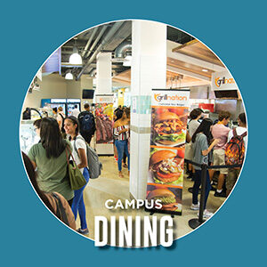 """Button saying """"Campus Dining"""""""