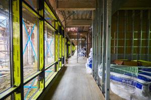 Aquino Hall construction.