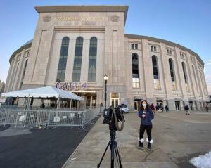 Michelle Ross at the Yankee Stadium