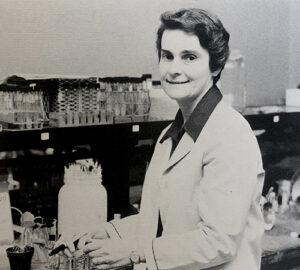 Sr. Mary Edward Zipf in the laboratory
