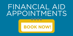 Banner saying Financial Aid Appointments and Book now
