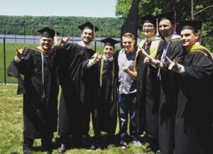 Chris Summo at graduation.