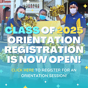 """Button saying """"Orientation is now open"""""""