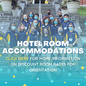 """Button saying """"Hotel Room Accommodations"""""""