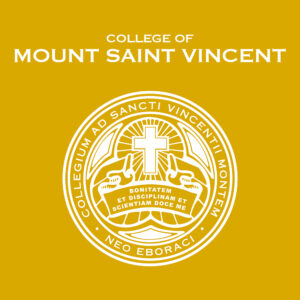 """Graphic that says """"College of Mount Saint Vincent"""""""
